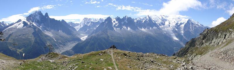 View from Planpraz-Brévent (du Flégère)