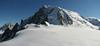 Mont Blanc du Tacul 4248m, Route: Helbronner 3462m - Aiguille du Midi 3842m (Telecabine Vallée Blanche)