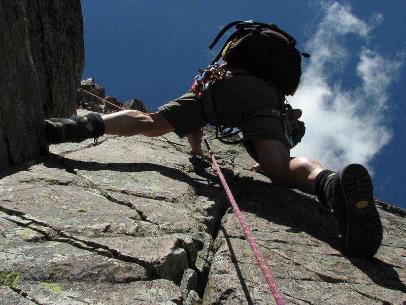 Rock climbing, L'Index 2385m (Aiguille Rouges)