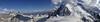 Grandes Jorasses 4208m-Dent du Genant 4013m and Mont Blanc 4810m