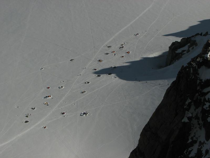 Camp site near Refuge des Cosmiques 3500m La Vallée Blanche ~3000m