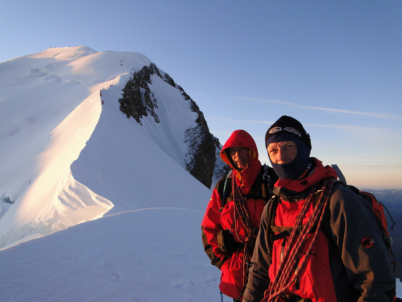 View at Bosses arete, Ascending Mont Blanc 4810m