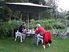 Tour planning/diner at Gite la Montagne, Chamonix