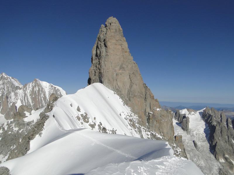 Dent du Geant 4013m and Arête de la Rochefort 3928m, Refuge Torino, Italy 3338m - Arête de la Rochefort 3928m ( Rochefort ridge)