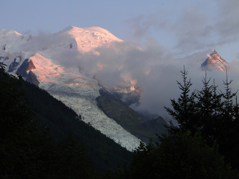 Evening view at Mont Blanc 4810m, Chamonix