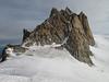 Aiguille du Midi 3842m, view from route Refuge des Cosmiques 3613m