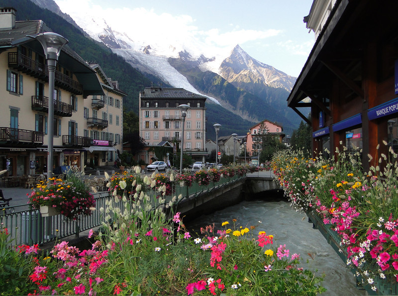 Chamonix in the early morning