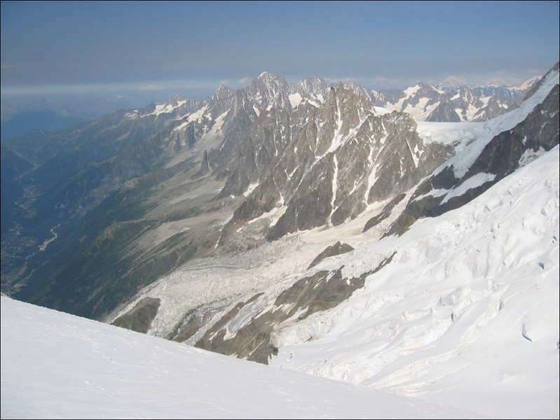 15 July rest day, view to the East with below: Chamonix (montblanc2005)