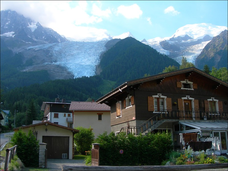 Les Houches 983m. We leaf France and go to Switzerland, see Berner Oberland 2005 (montblanc2005)