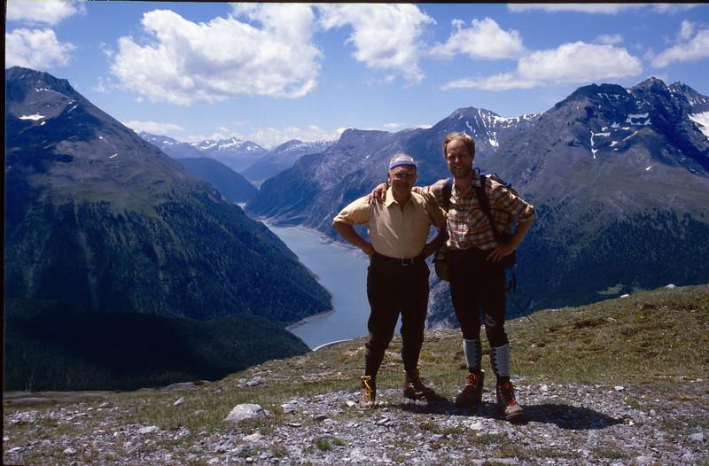 Munt la Schera 2580m 20-07-1987 (Livigno lake (Italy) in the background)