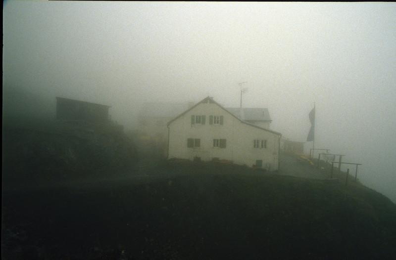 Wiesbadener hutte 2443m. (bad weather in the Silvretta)