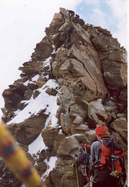 10 Aug. ascent Dufourspitze (Wallis,  2003)