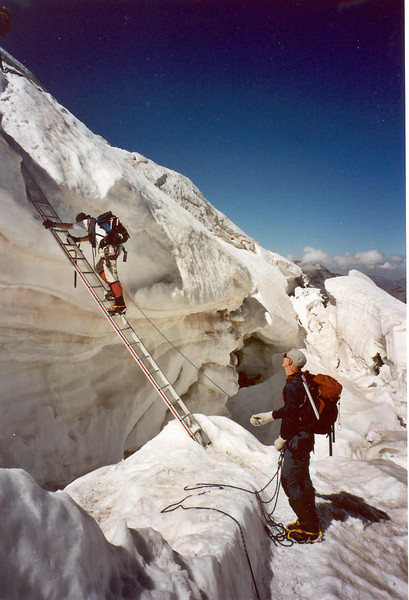 ascent  Weissmies (Wallis,  2003)