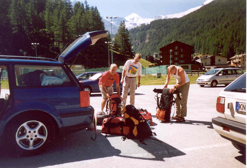 8 Aug. camping Mischabel Saas Grund  (Wallis  Saas Grund, Mischabel 2003)