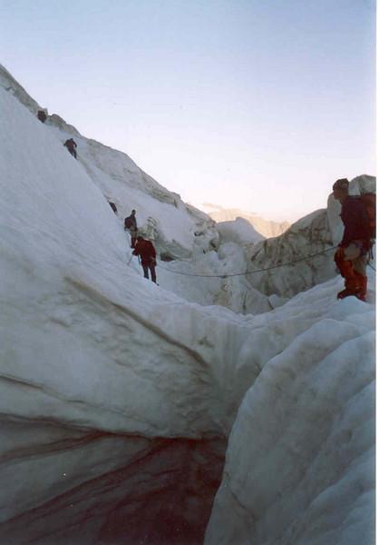 ascent Weissmies (Wallis,  2003)