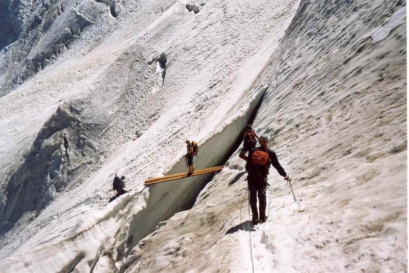 ascent of the Weissmies 4023m. (Wallis,  2003)