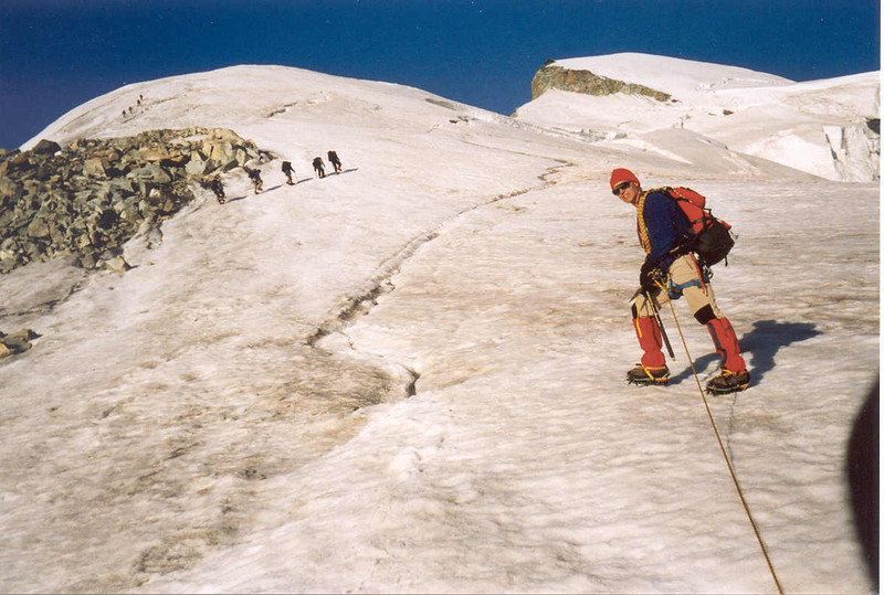 7 Aug. route Allalinhorn 4027m. (Wallis,  Mischabel 2003)