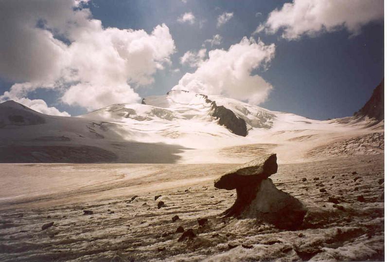 Allalin glacier and Strahlhorn 4190m. (Wallis,  2003)