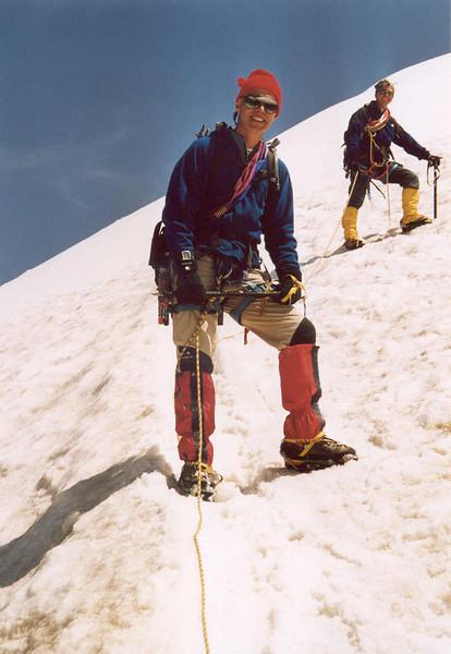 descent  Allalinhorn  (Wallis, Mischabel 2003)
