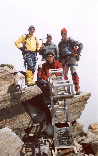 10 Aug. 12.20 PM Dufourspitze 4634m. (Wallis,  2003)