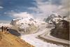 8 Aug. ascent Monte Rosa Hutte CAS 2795m. Gornergrat / glacier with Monte Rosa and Liskamm (Wallis,  2003)