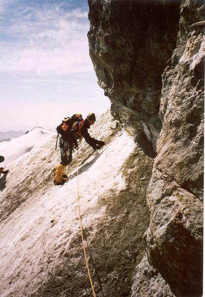 ascent  Allalinhorn  (Wallis, Mischabel 2003)