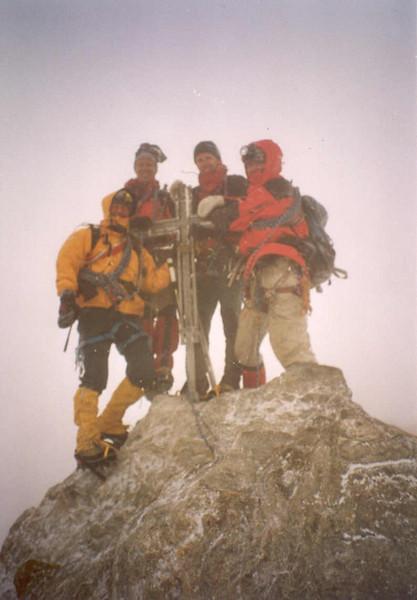 15 Aug. 8.00 AM summit  Nadelhorn 4327m. (Wallis Nadelhorn 2)