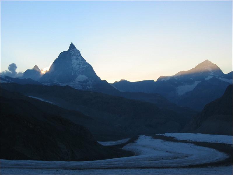 2 Sept. 2.30 AM view from the hut (Wallis 2004)