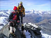 summit of the Rimpfischhorn 4199m. (Wallis 2004)