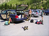 preparation tour, Tasch parking  (Wallis2004)