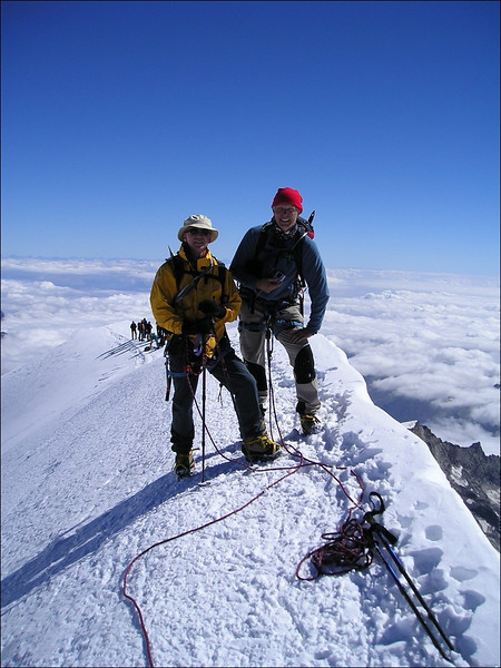 2 Sept. 10.45 AM summit Parrotspitze 4432m. (Wallis 2004)