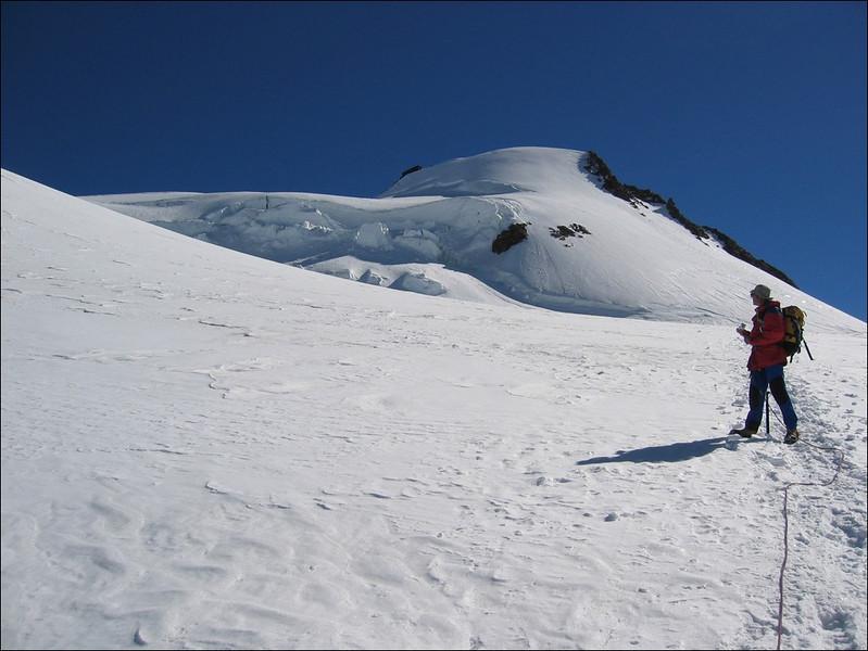 ascent of the Parrotspitze 4432m. (Wallis 2004)