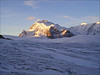view from Langflue glacier: Monte Rosa with Nordend and Doufourspitze (Wallis 2004)