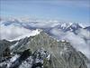 view from the Rimpfischhorn 4199m. Allalinhorn, Weissmies and in the background, Berner Oberland (Wallis 2004)