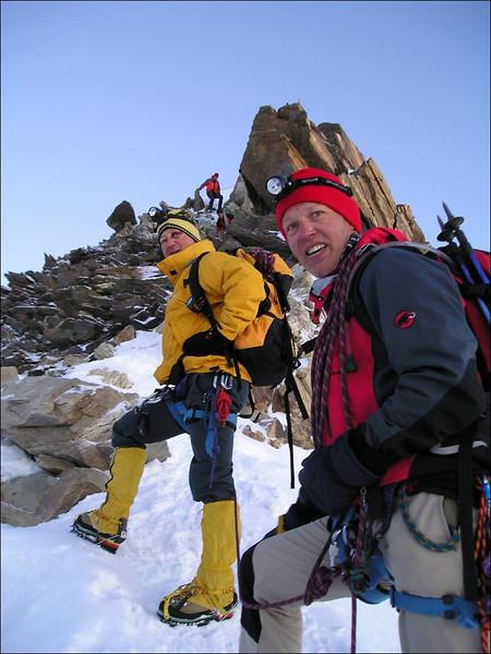 Ascent Zumsteinspitze 4563m. (Wallis 2004)
