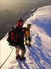 descent Zumsteinspitze 4563m. (Wallis 2004)