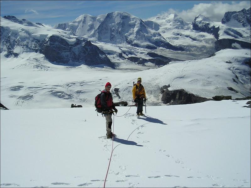 descent Rimpfischhorn (Wallis 2004)