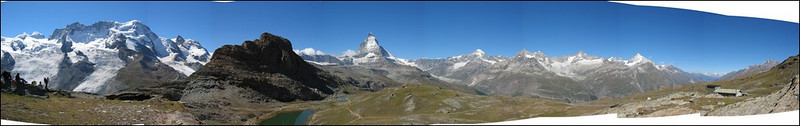 view from the Gornergrat to the Walliser Alps (Wallis 2004)