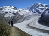 route Gornergrat - Grenz glacier - Monte Rosa Hutte (Wallis 2004)