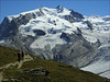 route Gornergrat - Monte Rosa Hutte with Nordend and Dufourspitze (Wallis 2004)