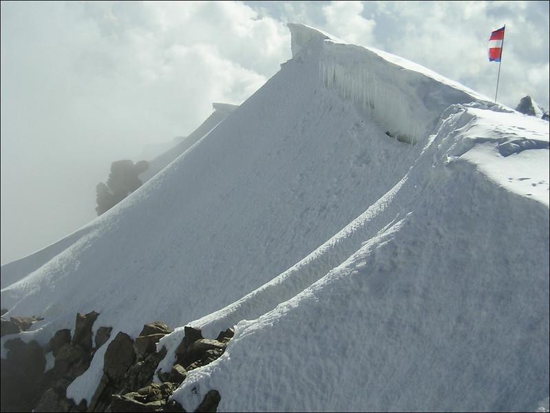 Punte Gnifetti or Signalkuppe with Rif. Regina Margherita CAI 4554m. (Wallis 2004)