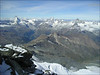 view from the Rimpfischhorn 4199m. (Wallis 2004)