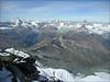 view from the Rimpfischhorn 4199m. (Wallis 2004)