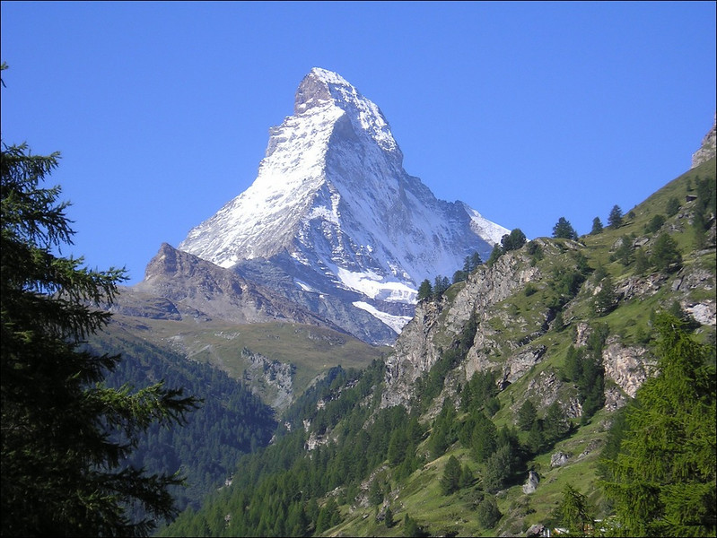 1 Sept. Zermatt with the home mountain the Matterhorn (Wallis 2004)