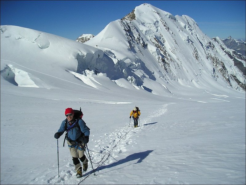 ascent of the Parrotspitze 4432m. (Wallis 2004)