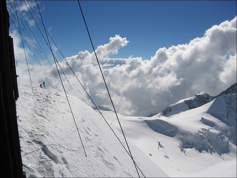 N.E. view from Rif. Regina Margherita CAI 4554m. (Wallis 2004)