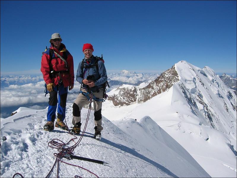 10.45 AM summit Parrotspitze 4432m. (Wallis 2004)