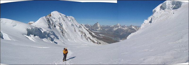panorama from the Grenz glacier,  (Wallis 2004)