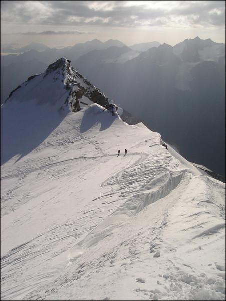 sub-summit of the Bishorn: Pointe Burnaby 4135m (Wallis 2005  Zinal)