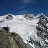 Stierberg 3507m. Bishorn 4153m./4135m.Tete de Milon 3693m. (View from Cabane de Tracuit 3256m. Wallis 2005  Zinal)